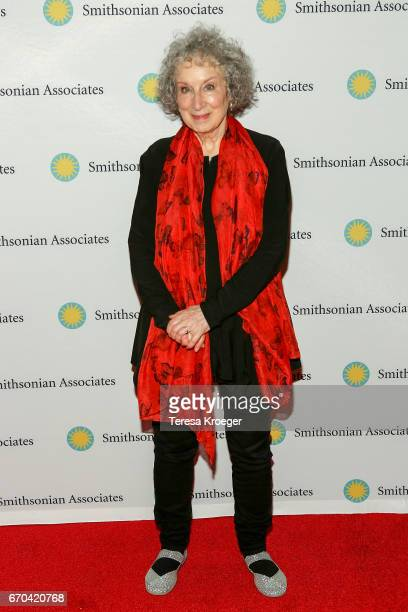 Author Margaret Atwood attends 'The Handmaid's Tale' Washington DC preview at Smithsonian National Museum Of American History on April 19 2017 in...