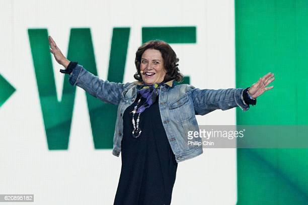 Author Margaret Trudeau speaks at We Day Vancouver at Rogers Arena on November 3 2016 in Vancouver Canada