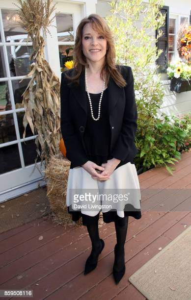 Author Marianne Williamson attends Hallmark's 'Home Family' at Universal Studios Hollywood on October 9 2017 in Universal City California
