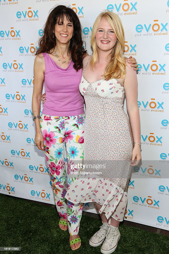 Author Marina Anderson (L) and Hayden Carson Begley attend the green carpet launch for the Evox TV debut of Ed Begley's new family show, 'On Begley Street' on September 15, 2013 in Pasadena, California.