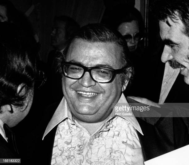 Author Mario Puzo attends the premiere party for 'The Godfather' on March 14 1972 at the St Regis Hotel in New York City