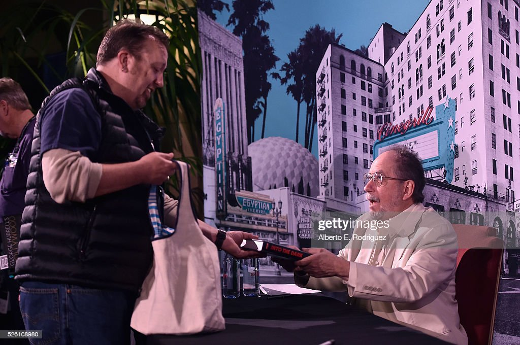 Author Mark A. Vieira (R) attends Mark Viera book signing during day 2 of the TCM Classic Film Festival 2016 on April 29, 2016 in Los Angeles, California. 25826_006
