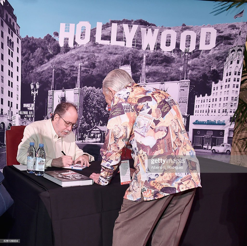 Author Mark A. Vieira attends Mark Viera (L) book signing during day 2 of the TCM Classic Film Festival 2016 on April 29, 2016 in Los Angeles, California. 25826_006
