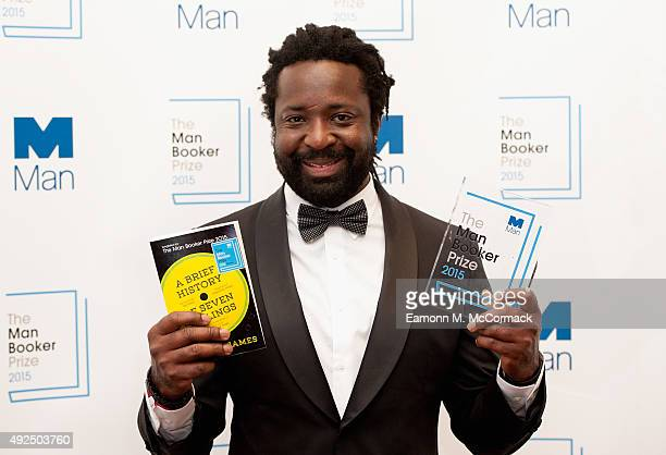 Author Marlon James named as the Winner of The 2015 Man Booker Prize for 'A Brief History of Seven Killings' at The Guildhall on October 13 2015 in...