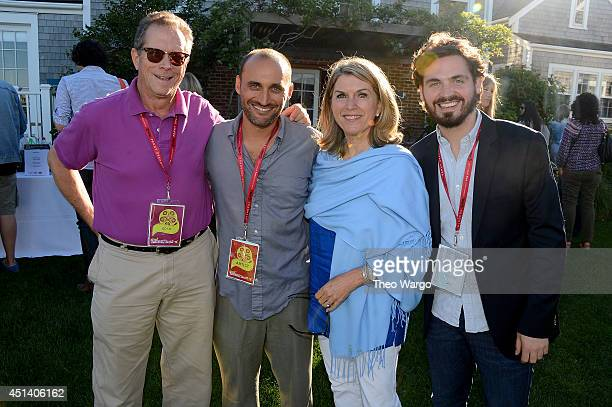 Author Marshall Fine director Amir BarLev Kathleen Matthews and producer of Nantucket Film Festival Bill Curran attend the Board of Directors Party...