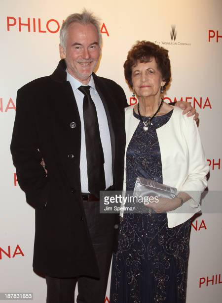 Author Martin Sixsmith and Philomena Lee attend the premiere of 'Philomena' hosted by The Weinstein Company at Paris Theater on November 12 2013 in...