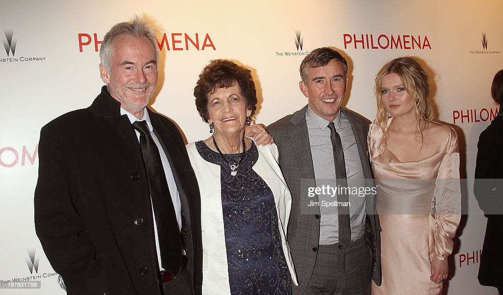 Author <a gi-track='captionPersonalityLinkClicked' href=/galleries/search?phrase=Martin+Sixsmith&family=editorial&specificpeople=11320037 ng-click='$event.stopPropagation()'>Martin Sixsmith</a>, Philomena Lee, actors <a gi-track='captionPersonalityLinkClicked' href=/galleries/search?phrase=Steve+Coogan&family=editorial&specificpeople=204648 ng-click='$event.stopPropagation()'>Steve Coogan</a> and <a gi-track='captionPersonalityLinkClicked' href=/galleries/search?phrase=Sophie+Kennedy+Clark&family=editorial&specificpeople=7256528 ng-click='$event.stopPropagation()'>Sophie Kennedy Clark</a> attend the premiere of 'Philomena' hosted by The Weinstein Company at Paris Theater on November 12, 2013 in New York City.