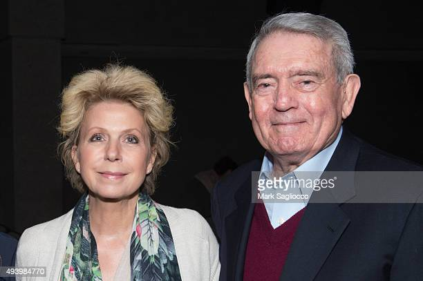 Author Mary Mapes and Journalist Dan Rather attends the 'Truth' New York special screening at the Lincoln Plaza Cinema on October 23 2015 in New York...