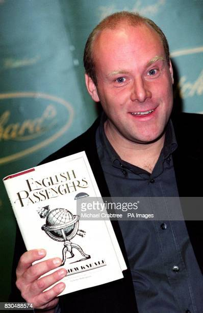 Author Matthew Kneale with his book English Passengers at Hatchards bookshop in Piccadilly central London The title is one of six shortlisted for the...