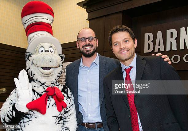 Author Matthew Thomas and actor Misha Collins attend the Matthew Thomas and Misha Collins book signing for 'We Are Not Ourselves' at Barnes Noble...