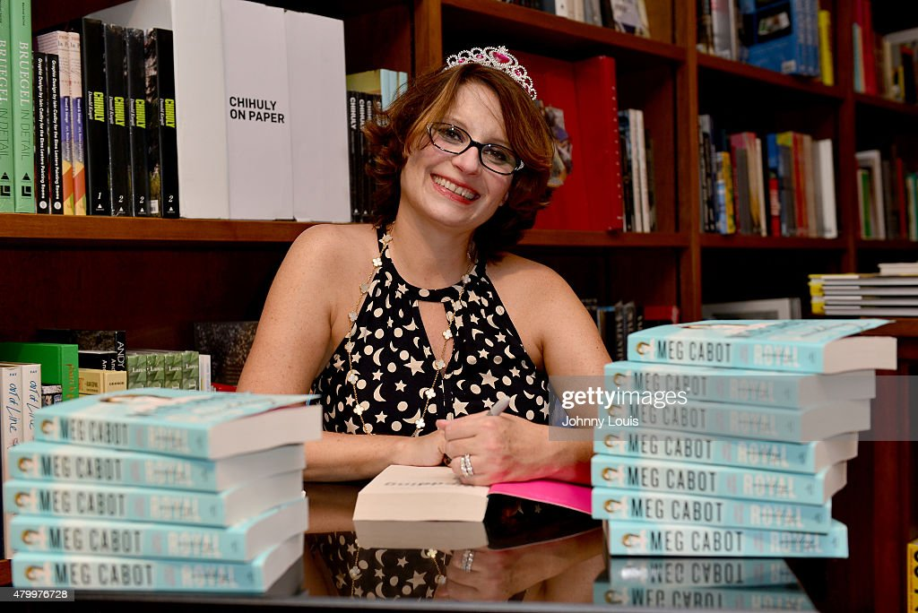 Author Meg Cabot greets fans and signs copies of her book 'Royal Wedding: A Princess Diaries Novel' at Books And Books on July 01, 2015 in Coral Gables, Florida.