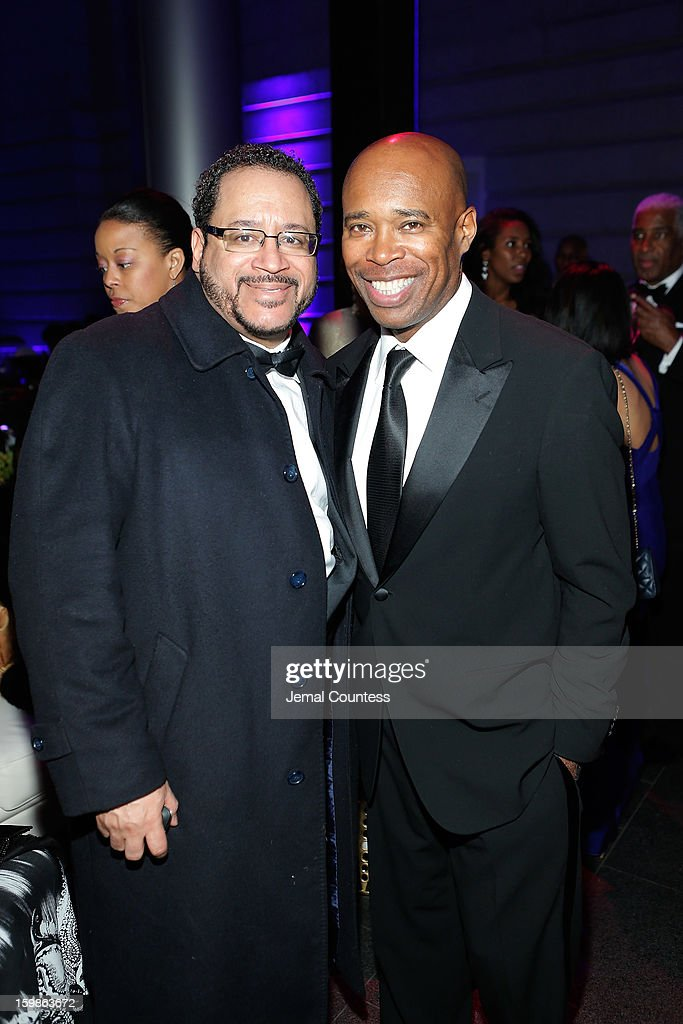 Author Michael Dyson and Senior Vice President of Programming at HBO Sports Kery Davis attend the Inaugural Ball hosted by BET Networks at Smithsonian American Art Museum & National Portrait Gallery on January 21, 2013 in Washington, DC.