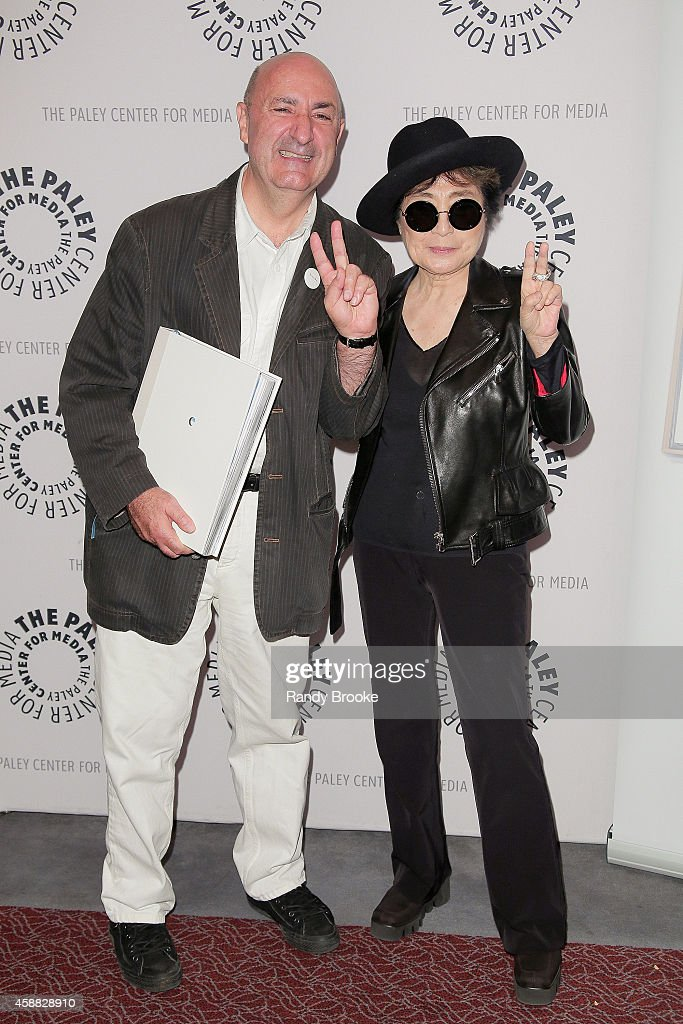 Author, Music Critic and the evening's Moderator Anthony DeCurtis and Yoko Ono attends the Paley Center For Media Presents: An Evening With Yoko Ono at Paley Center For Media on November 11, 2014 in New York City.