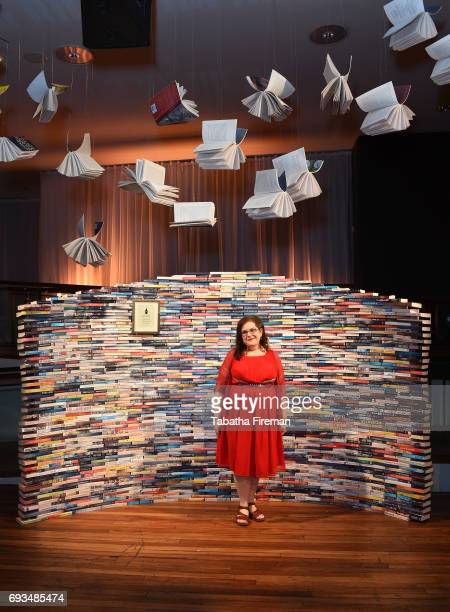 Author Naomi Alderman shortlisted for the 2017 Baileys Women's Prize for Fiction for 'The Power' in front of the Women's Prize Library ahead of...