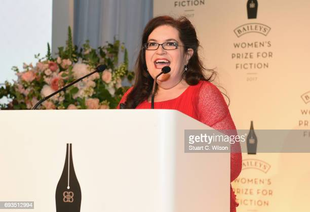 Author Naomi Alderman wins the 2017 Bailey's Women's Prize for Fiction for her novel 'The Power' at the Royal Festival Hall on June 7 2017 in London...