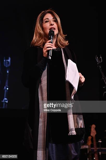 Author Naomi Klein speaks onstage at the Busboys and Poets' Peace Ball Voices of Hope and Resistance at National Museum Of African American History...