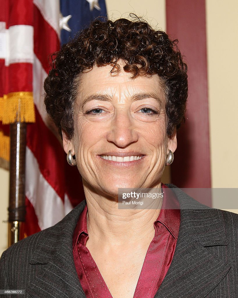Author Naomi Oreskes poses for a photo at a special 'Merchants of Doubt' screening at Rayburn House Office Building on April 1 2015 in Washington DC