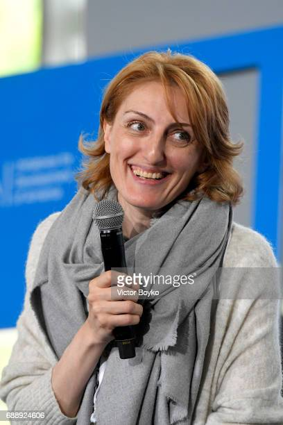 Author Narine Abgaryan during the Galvanizing the World Session at the Aurora Dialogues a series of discussions between leading humanitarians at the...