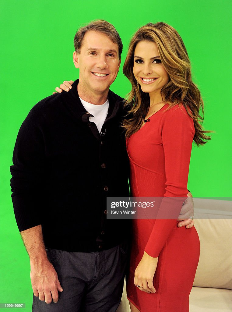 Author Nicholas Sparks (L) and television personality Maria Menounos pose at A Night with Nicholas Sparks' Safe Haven: Filmmakers, Author and Stars Bring The Book To Life at Castle Studios on January 17, 2013 in Burbank, California.