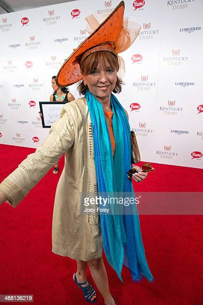 Author Nora Roberts attends the 140th Kentucky Derby at Churchill Downs on May 3 2014 in Louisville Kentucky