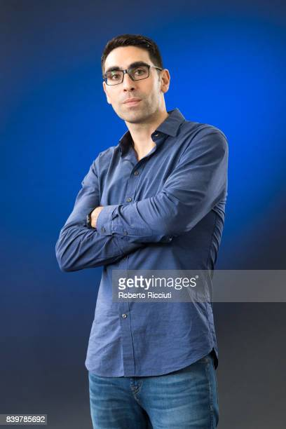 Author of children's book and storyboard artist Sav Akyuz attends a photocall during the annual Edinburgh International Book Festival at Charlotte...