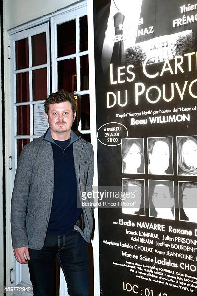 Author of 'House of cards' and of the Piece 'Farragut North' which is adapted this one Beau Willimon attends the 'Les Cartes Du Pouvoir' Piece of...