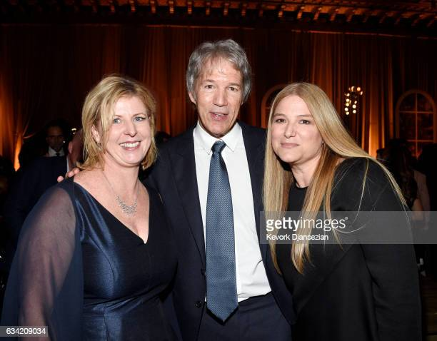 Author of the book 'Big Little Lies' Liane Moriarty executive producer/writer David E Kelley and executive producer Bruna Papandrea attend the after...
