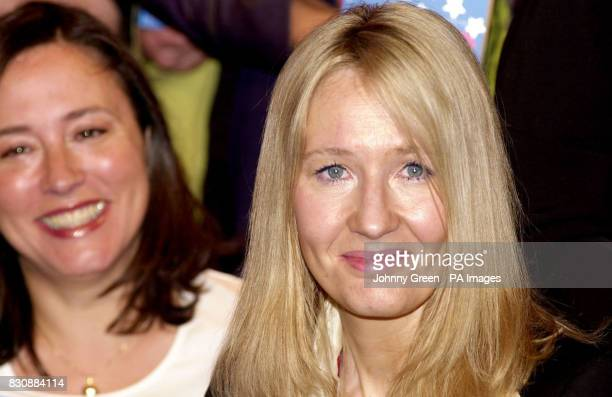 Author of the Harry Potter books J K Rowling and comedian Arabella Weir attend a press launch in central London of a new book entitled 'Magic' which...