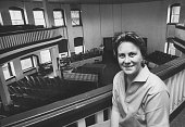 Author of To Kill a Mockingbird Harper Lee in local coutrhouse while visting her home town
