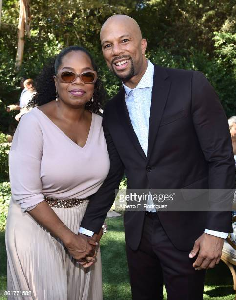 Author Oprah Winfrey and actor/rapper Common attend Oprah Winfrey's Gospel Brunch celebrating her new book 'Wisdom of Sundays' on October 15 2017 in...