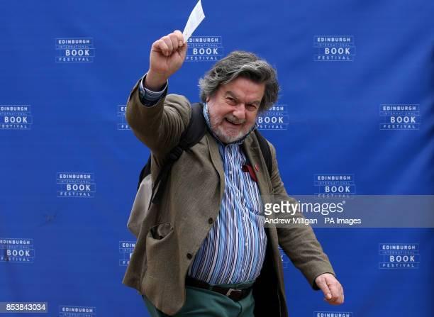 Author Owen Dudley Edwards at the Edinburgh International Book Festival in Charlotte Square Edinburgh