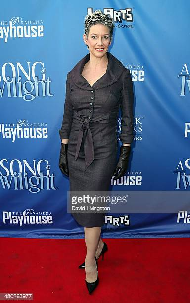 Author Patricia Ward Kelly attends the opening night of 'A Song at Twilight' at the Pasadena Playhouse on March 23 2014 in Pasadena California