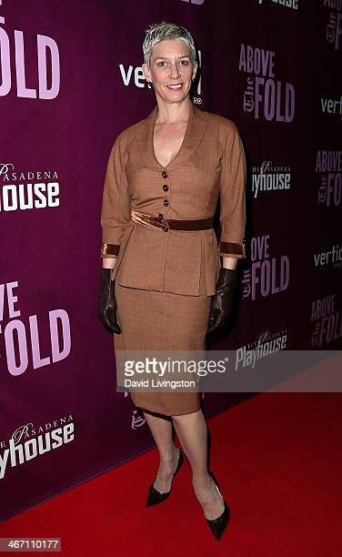 Author Patricia Ward Kelly attends the opening night performance of 'Above the Fold' at the Pasadena Playhouse on February 5 2014 in Pasadena...