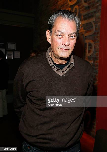Author Paul Auster attends a screening of 'The Tempest' at BAM Rose Cinemas on October 17 2010 in Brooklyn New York City