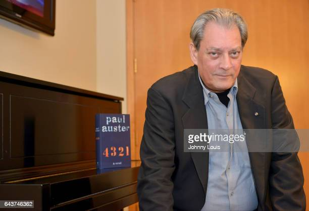 Author Paul Auster poses for portrait before A Evening with Paul Auster friends MUSIC MAGIC THE MUSE for his latest novel '4 3 2 1' features...