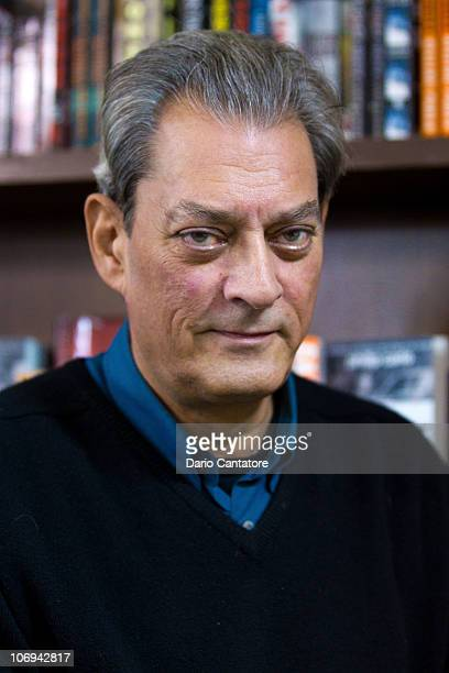 Author Paul Auster signs copies of 'Sunset Park' at Barnes Noble Union Square on November 17 2010 in New York City
