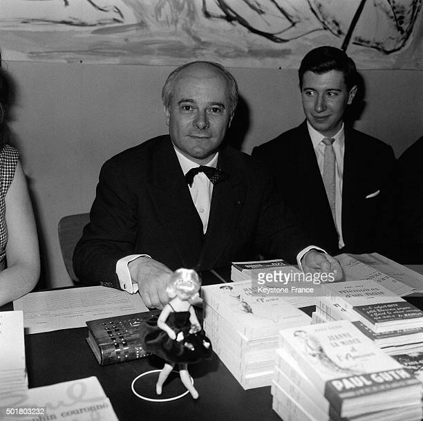 Author Paul Guth At A Booksigning in France in March 1963