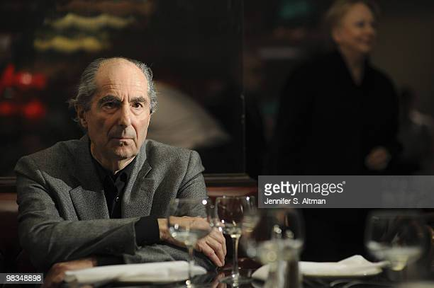 Author Philip Roth is photographed at the Russian Samovar Restaurant for the Hamburger Abendblatt PUBLISHED IMAGE