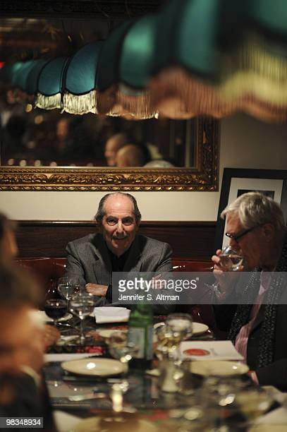 Author Philip Roth is photographed at the Russian Samovar Restaurant for the Hamburger Abendblatt