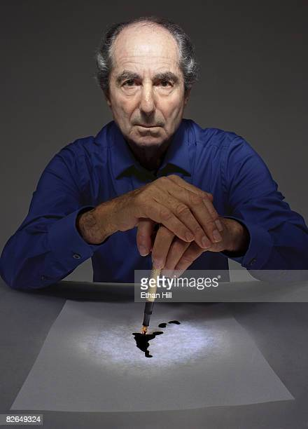 Author Philip Roth poses at a portrait session in New York City Published image