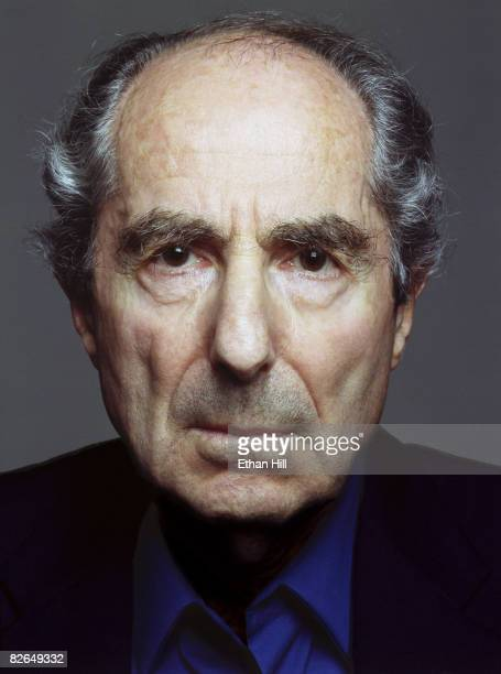 Author Philip Roth poses at a portrait session in New York City
