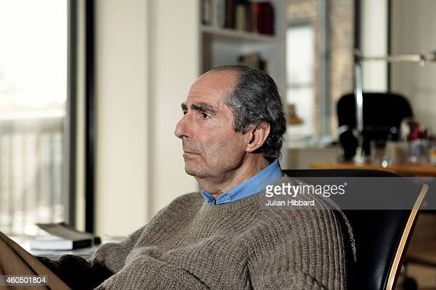 Author Philip Roth poses on May 19 2011 in his apartment in New York City