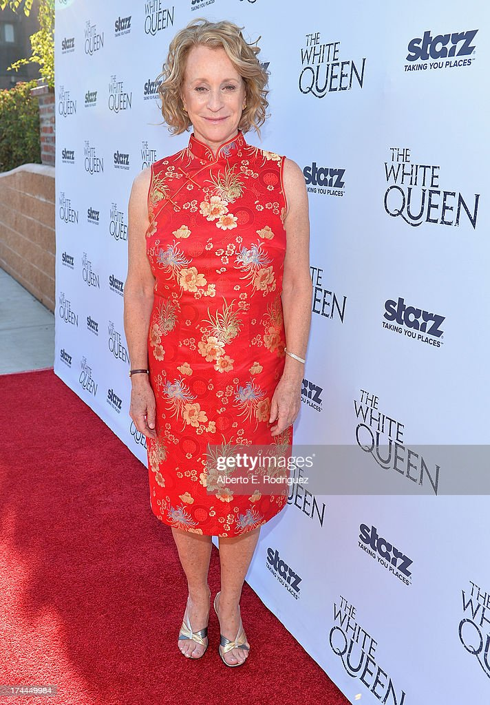 Author Philippa Gregory attends The Brittish Consulate'a toast of the U.S. launch of the Starz original series 'The White Queen' on July 25, 2013 in Los Angeles, California.