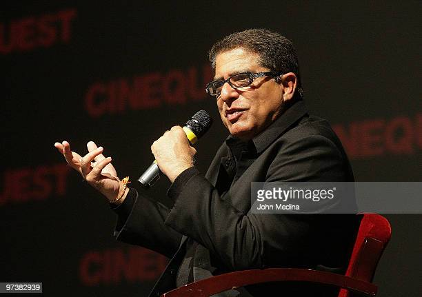 Author physician and lecturer Deepak Chopra recieves the 'Life of A Maveric Award' during the 2010 Cinequest Film Festival at The California Theater...
