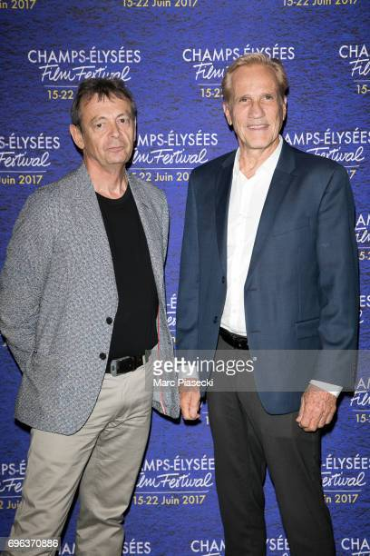 Author Pierre Lemaitre and director Randal Kleiser attend the 6th 'ChampsElysees Film Festival' at Cinema Gaumont Marignan on June 15 2017 in Paris...