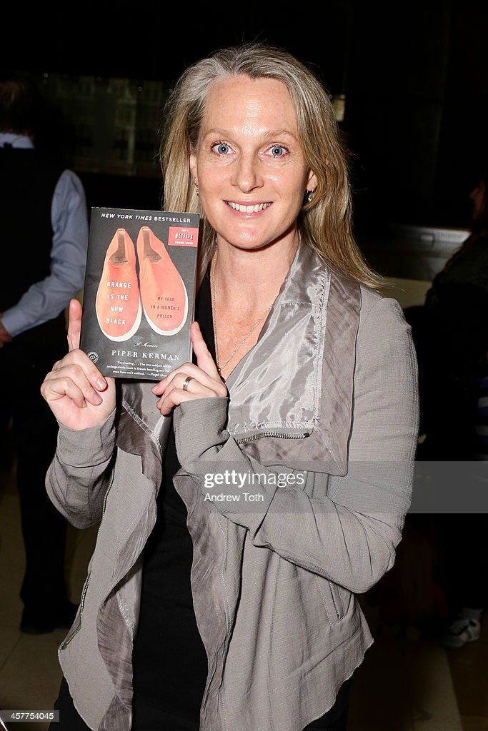 Author Piper Kerman attends the 'Orange Is The New Black - My Year In Women's Prison' charity book shopping experience at Carlton Hotel on December 18, 2013 in New York City.