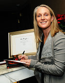 Author Piper Kerman attends the 'Orange Is The New Black My Year In Women's Prison' charity book shopping experience at Carlton Hotel on December 18...