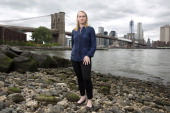 Author Piper Kerman is photographed for London Sunday Times on June 8 2013 in Brooklyn New York