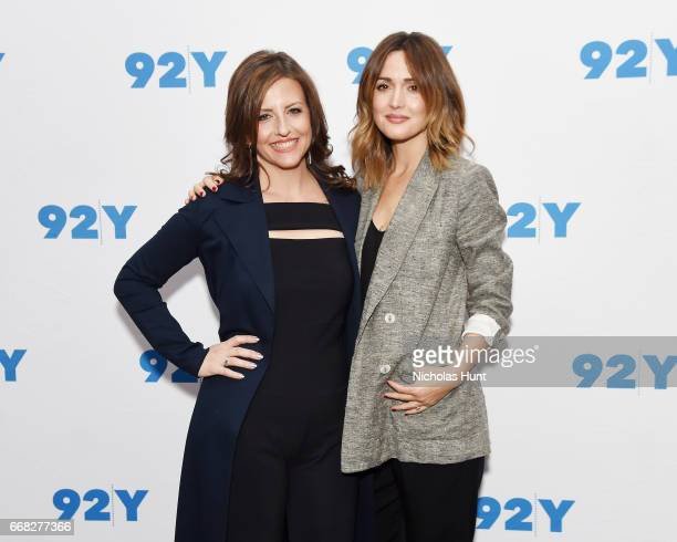 Author Rebecca Skloot and Actress Rose Byrne attend the 92nd Street Y Presents 'The Immortal Life of Henrietta Lacks' at 92nd Street Y on April 13...