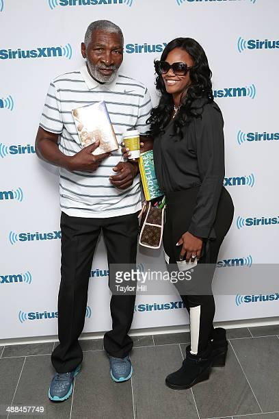 Author Richard Williams and girlfriend Lakeisha Graham visit the SiriusXM Studios on May 6 2014 in New York City